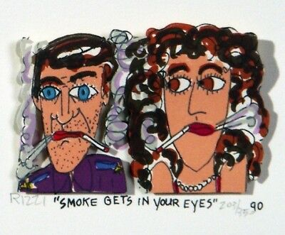 "James Rizzi ""SMOKE GETS IN YOUR EYES"" 3D-Konstr. v.1990"