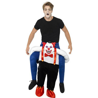 Sinister Scary Clown Piggy Back Halloween Carry Me Fancy Dress Costume 45201