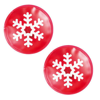 2 X Instant Heat Reusable Xmas Gel Hand Warmer Skiing Christmas Snowflake Warm