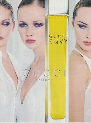 Publicité Papier - Advertising Paper Envy Gucci