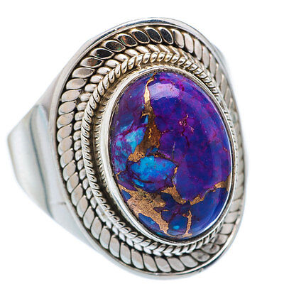 Purple Turquoise Ring 925 Sterling Silver Handmade Jewelry (US-TURQ-08)