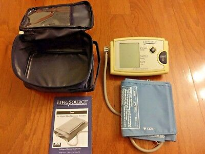 Lifesource Ua-787Quick Response Auto Inflate Blood Pressure Monitor With Case