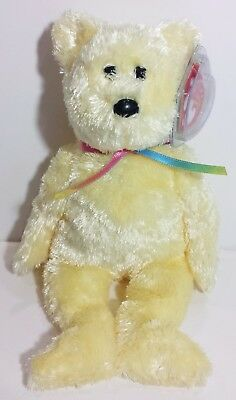 "TY Beanie Babies ""SHERBET"" the Soft Yellow Teddy Bear - MWMTs! PERFECT GIFT! NEW"