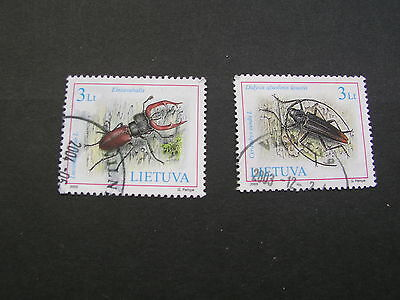 Lithunia butterfly  stamps 2002