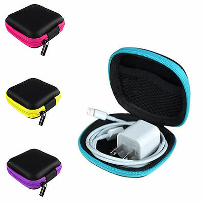 Mini Earphone Headset Data Cable Cord Storage Case Container Organizer 2 Styles