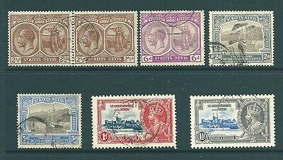 ST KITTS & NEVIS - George V used stamp collection