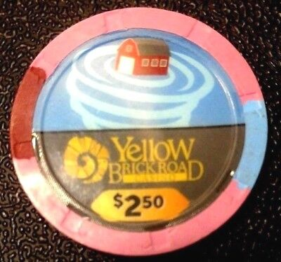 "Yellow Brick Road $2.50 Casino chip ""House in Tornado"" Wizard of Oz collectible"