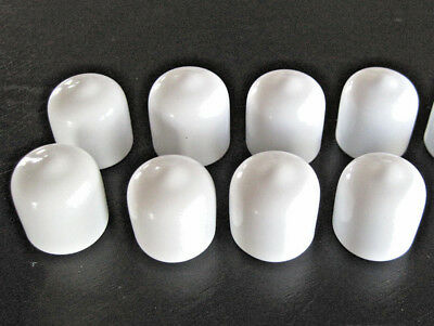 "8 - 3/8"" Flexible White Vinyl Round End Caps Cover Rubber Tube  FDA Food Grade"