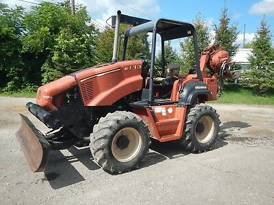 2002 Ditch Witch RT90 with H932 Vibratory Plow, front 6 way backfill plow