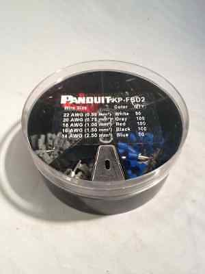 PANDUIT KP-FSD2 Insulated DIN Ferrule Assortment Kit, 400 Pieces #22-14 AWG +52A