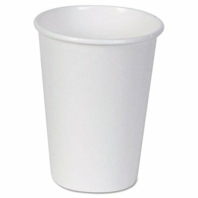 Disposable Hot Cup, 12 oz., White, PK1000