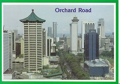 Singapore Postcard - Aerial View of Busy Orchard Road -  Ref A4487