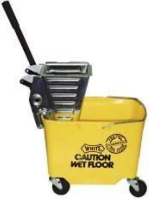 "Impact PRO-Y Pro-Pac Metal Squeeze Wringer/Plastic Bucket Combo with 3"" Casters,"