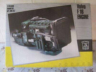 Pocher  Volvo F16 1/8 Scale  Engine Kit Km/87 New In Box, Unstarted, Complete