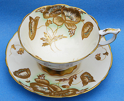 Royal Stafford Golden Floral Tea Cup And Saucer