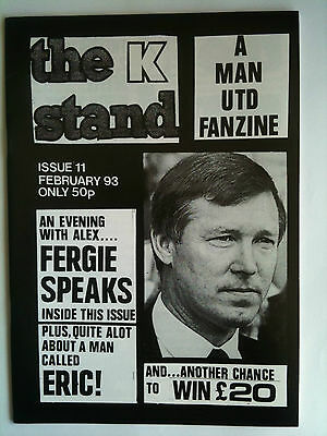 the K Stand Issue 11  Manchester United Fanzine  Feb 1993