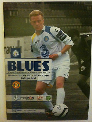 MINT 2013/14 Waterford United v Manchester United XI  Friendly