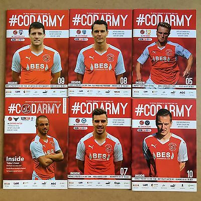 2016/17 - Various Fleetwood Town Home Programmes Choose From List