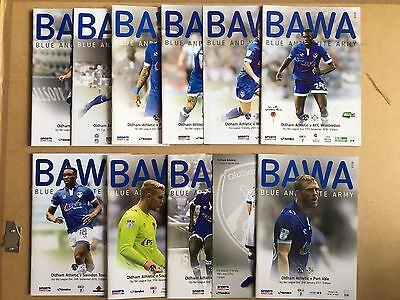 2016/17 - Various Oldham Athletic Home Programmes Choose From List