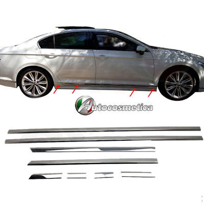 Cromature Adesive Modanature Sportelli Laterali- VW PASSAT B8 BERLINA e SW 2015>