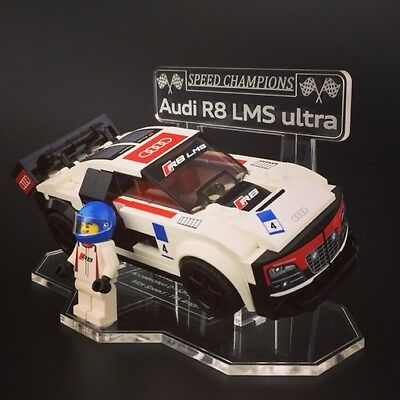 Display Stand For LEGO Speed Champions: AUDI R8 LMS Ultra (75873)