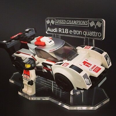 Display Stand For LEGO Speed Champions: AUDI R18 E-Tron Quattro (75872)