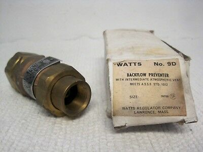 WATTS No. 9D Backflow Preventer 8542A-Used-FAST SHIPPING!!
