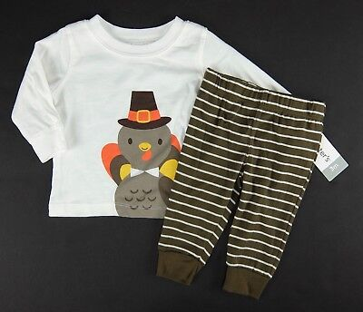 Carters Thanksgiving Outfit Two Piece Set Turkey Boy Girl Size 3 Months 9 Months
