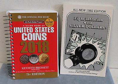 """2018 Red Book With Free Book 1982 """"Fight Inflation With Silver Dollars"""" 190p"""