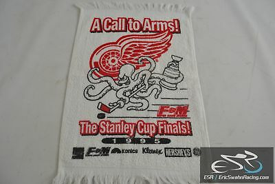 Vintage Detroit Red Wings Hockey NHL 1995 Stanley Cup Finals 17.5x11 Rally  Towel a328ba7a1