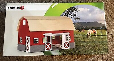 COLLECTIBLE DISCONTINUED Mint Schleich BIG Red Barn Stable 42028