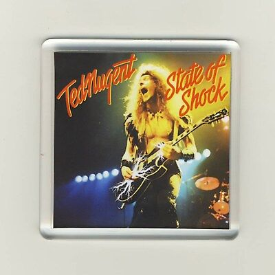 Ted Nugent State Of Shock Acrylic Refrigerator Fridge Magnet