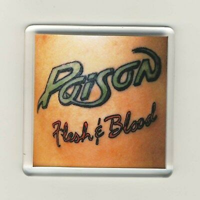 Poison Flesh And Blood Acrylic Refrigerator Fridge Magnet