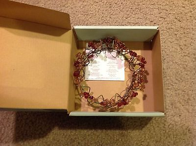 "PartyLite 3"" Clear Amber Gold Crystal Gemstone Candle Ring - P7834"