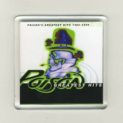 Poison Greatest Hits 1986 - 1996 Acrylic Refrigerator Fridge Magnet