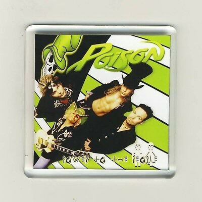 Poison Power To The People Acrylic Refrigerator Fridge Magnet