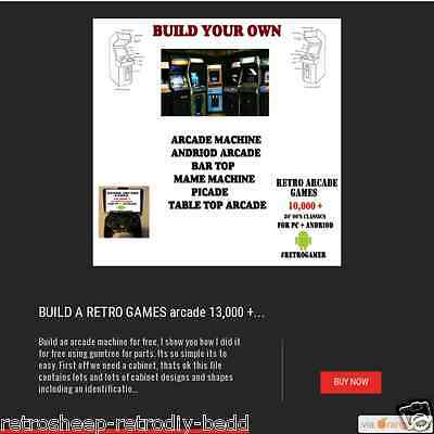 How To Build Your Own Retro Games Arcade Cabinet + Games  Classic Diy Project