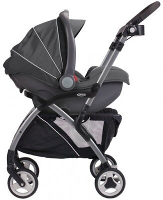Graco SnugRider Elite Infant Car Seat Frame Stroller, Black