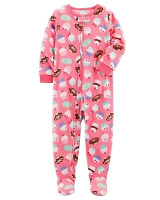 NEW Carter's 1 Piece Fleece Cupcake Donut PJs NWT 12m 18m 24m 2T 3T 4T 5T 7 8 yr