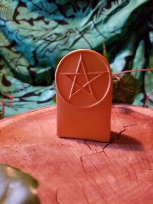 Pentagram Symbol,  Gold 80mm Witch Wicca Pagan