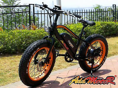 Addmotor MOTAN Electric Bikes 20'' 500W Fat Tire E-Bikes Beach Snow Road Bicycle