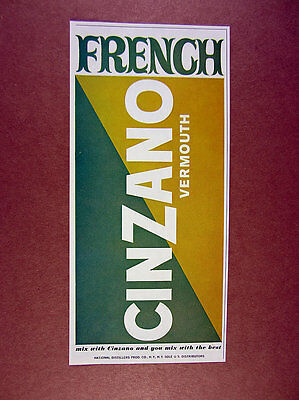 1963 Cinzano French Vermouth vintage print Ad