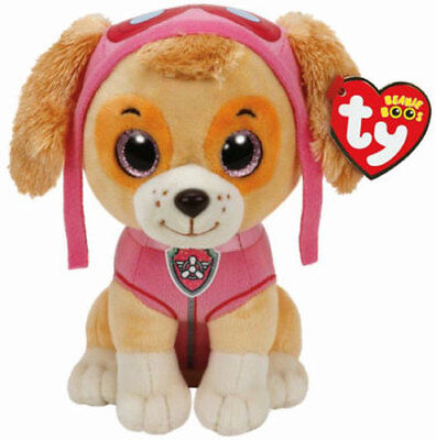 "TY Beanie Baby 9"" MEDIUM Paw Patrol SKYE the Cockapoo Plush MWMT's w/ Heart Tags"