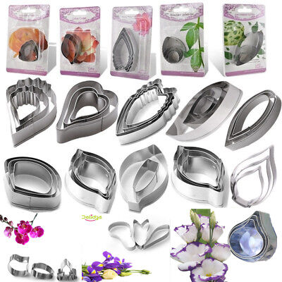 79 Stainless Steel Biscuit Baking Flower Leaf Cutter Fondant Cake Cookie Mold