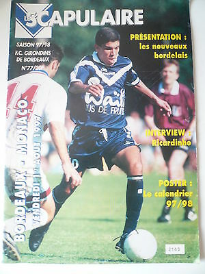 97/98 - BORDEAUX v MONACO - FRENCH LIGUE 1 - EXC