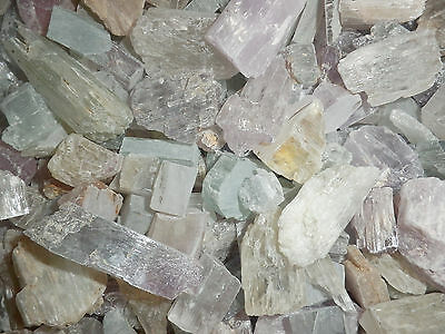 Spodumene Kunzite Hiddenite Triphane Crystal Over 10 g Large Piece 1000 gram Lot