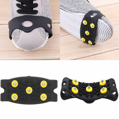 2× Anti Slip Snow Ice Climbing Spikes Grips Crampon Cleats 5-Stud Shoes Cover