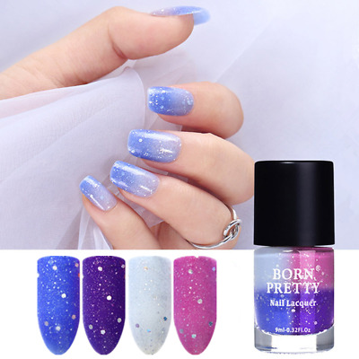 9ml Peel Off Thermal Nail Polish Sunlight Sensitive Color Changing BORN PRETTY