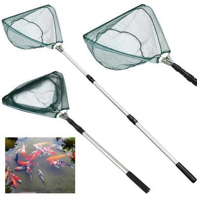 3 Section Telescopic Mesh Fishing Landing Net Lightweight Foldable Pole Handle
