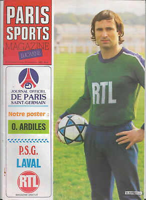 1982/83 France Division 1 - PSG PARIS ST. GERMAIN v. LAVAL